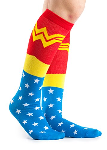 DC Comics Wonder Woman Lighter Blue Uniform Knee High Socks