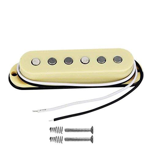 FLEOR - Pastilla Alnico 5 de bobina única de recambio para guitarra con mástil plano de estilo Strat
