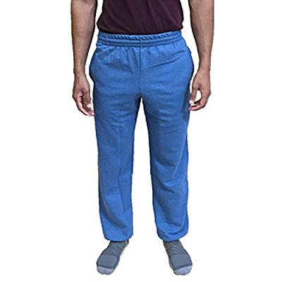 Fruit of the Loom Men's Elastic Bottom Sweatpant (XX-Large, Blue My Mind)