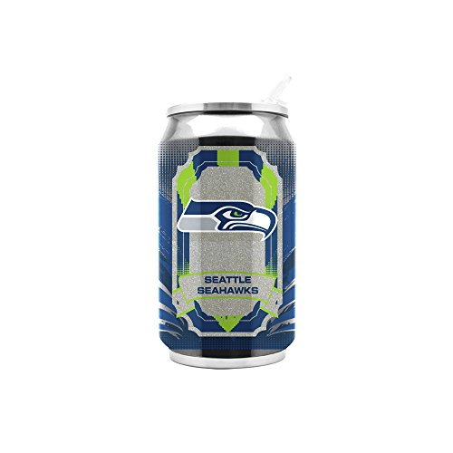 NFL Seattle Seahawks 16oz Double Wall Stainless Steel Thermocan