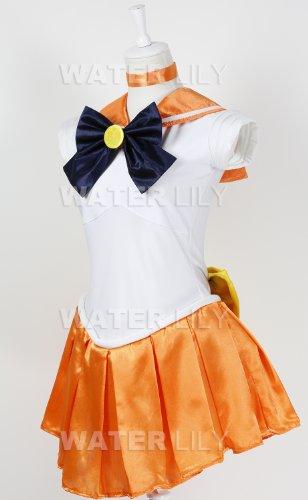 『セーラームーン 風 コスチューム 衣装 10点セットc328el (ヴィーナス 愛野美奈子 風 , Lサイズ)』の1枚目の画像