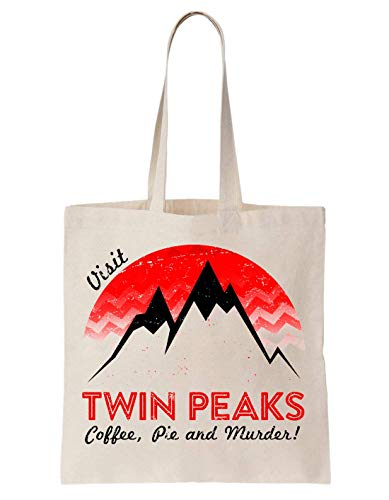 KRISSY Twin Peaks TV Show Series Logo Icon Visit Coffee Pie Murders Mountains Schultertasche Tote Bag