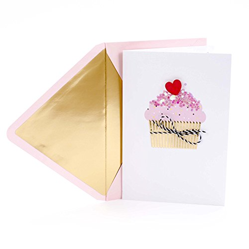 Hallmark Signature Valentine's Day Card (Cupcake with Confetti Sprinkles) (699VFE1016)