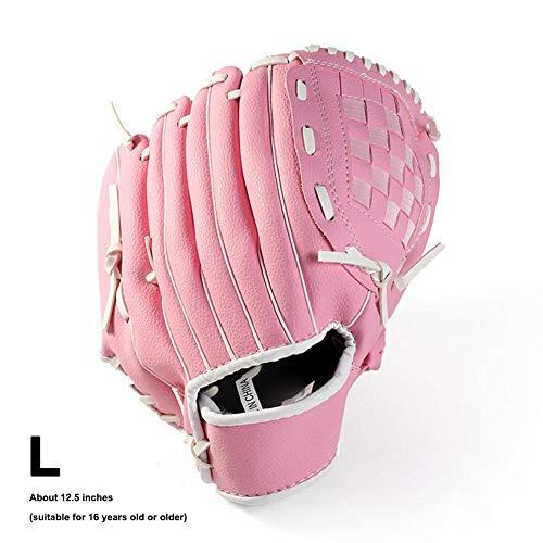 Yestter Baseball Handschuh Sporthandschuhe Fingerhandschuh Mit Baseball PU Dicker Braun Leder Extrem Baseballschläger Für Erwachsene Jugend Kinder