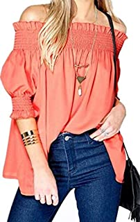 Orange Off Shoulder Blouse For Women