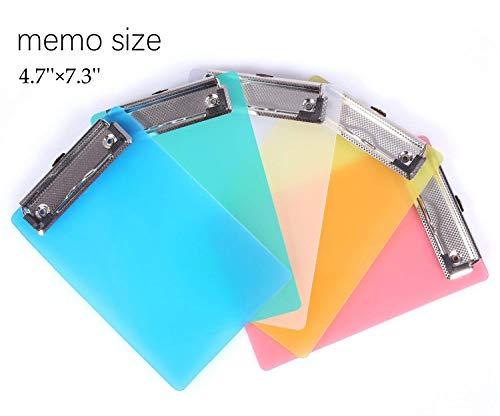Mini Clipboard, Mymazn Small Clipboard 4.7x7.3 Inch Pretty Cute Clipboard Memo Size Pocket Clipboard Tiny A6 Clip Boards Plastic (5 Pack)