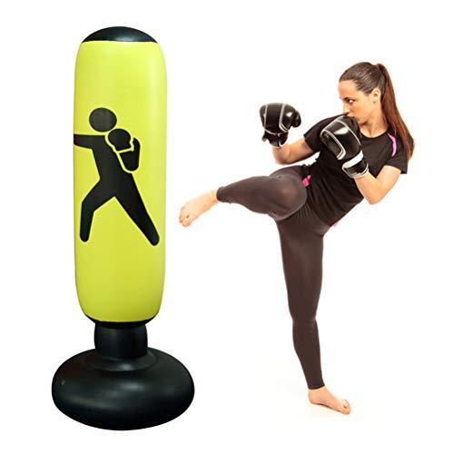 Opblaasbare bokszak, 160 cm, voor fitness, MMA, karate geel