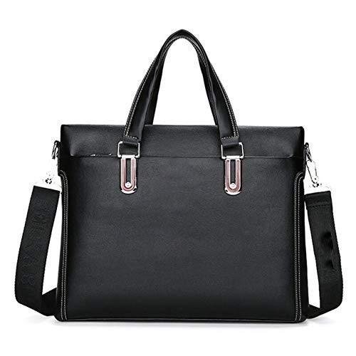 Y-hm fashion design Men Business Laptop computer Briefcase Shoulder Messenger Bags for Man Occasional Office Hand Bag Male Raincoat Leather Handbag Lightweight and durable