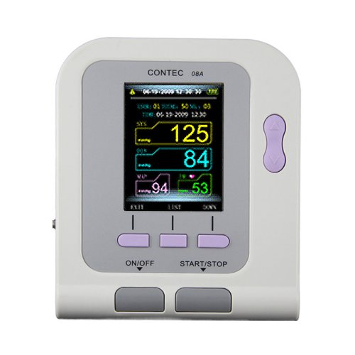 Contec08A Digital Upper Arm Blood Pressure Monitor, Pulse Rate & SpO2 Meter - One Machine, Multiple Functions by Contec