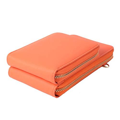 Zoomne - Cartera para tarjetas de crédito, monedero pequeño, Orange (Naranja) - Zoomne
