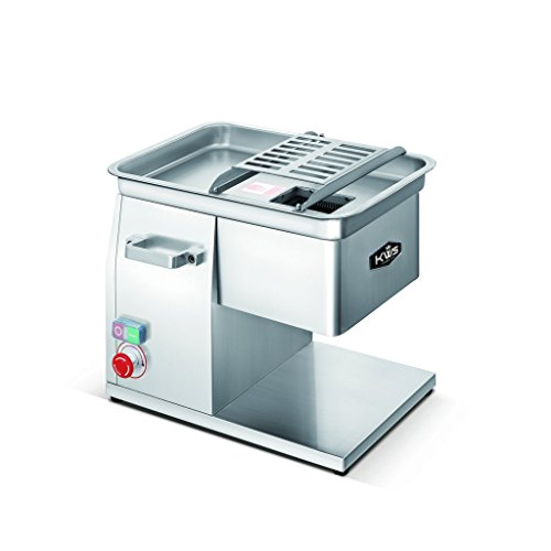 KWS SL-48 4mm Commercial 1320W 18HP Electric Stainless Steel Fresh Meat Cutter for RestaurantDeliButcher Shop
