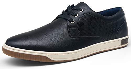 VOSTEY Men's Fashion Sneakers Black Simple Leisure Style Casual Shoes(B81Q11 Black 9.5)