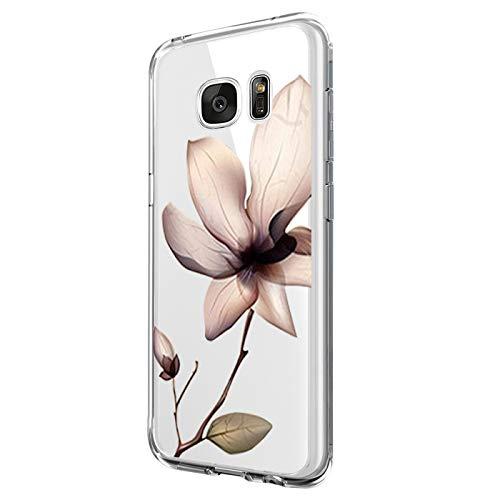 Kompatibel mit Samsung Galaxy S6 Edge Hülle Silikon Transparent Schutzhülle Weich Silicone HandyHülle, Mädchen Geschenk Muster Antikratz Design case Bumper Cover für Samsung Galaxy S6 Edge (7)
