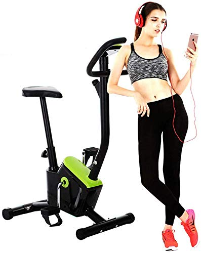 LSYOA Interior Exercise Bike Bicicleta Fitness, Inmóvil Bicicleta Estática con Pantalla LCD Ajustable Asiento Equipo De Ejercicios,Green