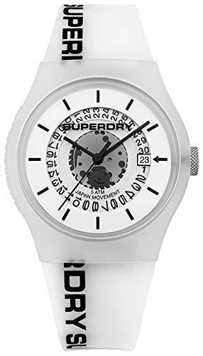 Superdry Reloj Analogico para Unisex de Cuarzo con Correa en Silicona SYG168W