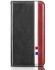 MOTOUREN Funda Huawei Y9 Prime 2019/P Smart Z Flip Case con Protector de Pantalla Antigolpes PU Cuero Cover Función de Soporte Billetera con Tapa Tarjetas Gris