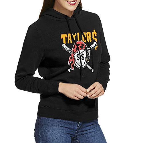 AngelaHenderson Women's Gang Taylors Smiley Pirate Face Cool Long Sleeve Sweatshirt Hoodie Pullover Black Xx-Large