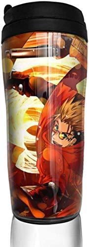 NR Trigun Anime Cups, Travel Cups mit Deckel, Kaffeetasse für Frauen und Männer, 12oz Kaffeetassen für Kinder, Autotasse, Milchglas, Thermoskanne