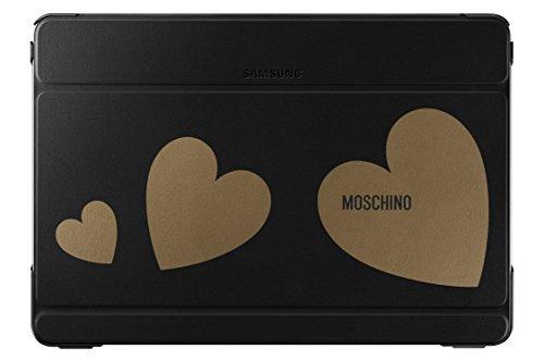 Samsung Diary Tasche Moschino Schwarz+GoldHeart EF-EP900BGEGWW Galaxy Note Pro 12.2