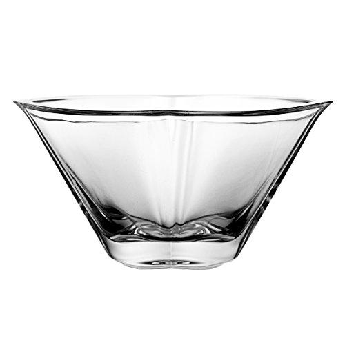 Crystelle aljulia 2207 Coque, Cristal au Plomb, Moderne, diamètre 18 cm, Transparent