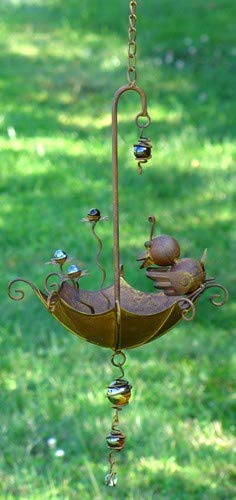 Hanging Umbrella Bird-Feeder Decorations (Bird on Umbrella)