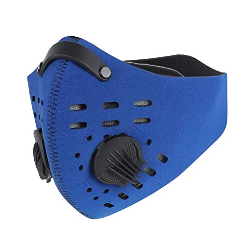 West Biking Mesh Dust/Pollution Mask for Air Filtration, Sport Mask with Exhalation Valves Filters, Activated Carbon N99 PM2.5 Filters Air Purifier (01)