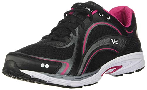 RYKA Damen Sky Walk Walking-Schuh, Schwarz Pink, 38 EU