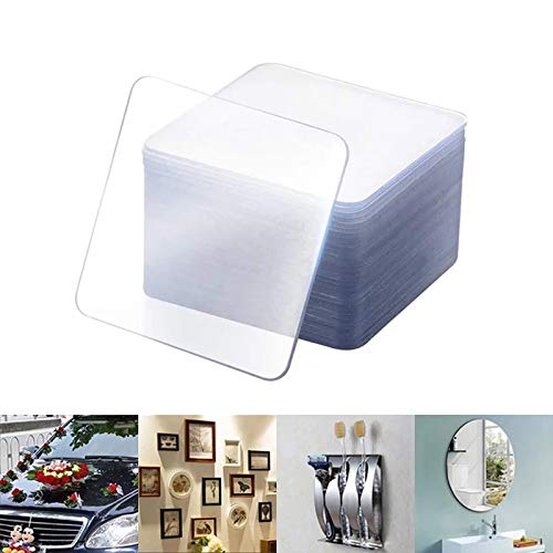 URBAN HUTCH Double Sided Adhesive Tape Heavy Duty Stickers for Home | Kitchen | Office | Wall | Car | Pack of 10 Pcs (6cm x 6cm)