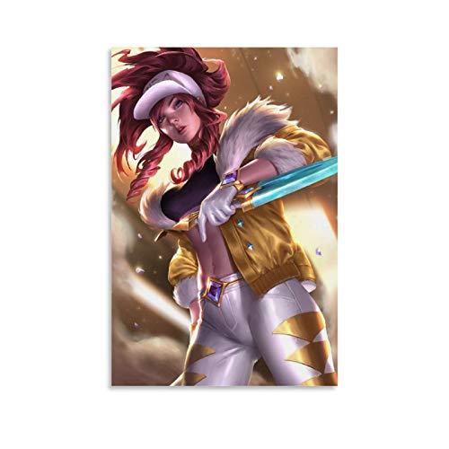 DRAGON VINES KDA Akali Kda Prestige Skin Hero League - Lienzo decorativo para pared (60 x 90 cm)