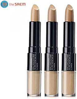 ザセム カバーパーフェクション アイディアル コンシーラー デュオ/(the saem ザセム) Cover Perfection Ideal Concealer Duo (4.2g+4.5g) 3 Color (#2 Rich Beige) [並行輸入品]