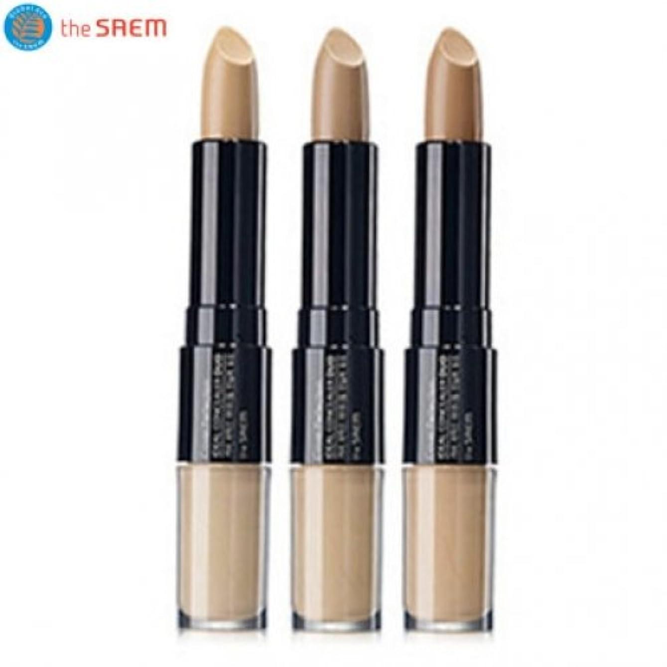 あなたのものシュリンクディスコザセム カバーパーフェクション アイディアル コンシーラー デュオ/(the saem ザセム) Cover Perfection Ideal Concealer Duo (4.2g+4.5g) 3 Color (#1 Clear Beige) [並行輸入品]