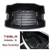 ABS Kofferraumwanne Kofferraummatten Robuste Matte Box für Tesla Model 3, wasserdichte Kofferraumwanne, leicht zu reinigen