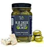 Green Jay Gourmet Blue Cheese Stuffed Olives – Cheese Stuffed Green Olives for Cocktail Garnish &...