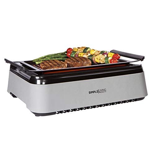 Simple Living Advanced Indoor Smokeless BBQ Grill   Powered With Infrared Technology with Virtually Zero Smoke   Special Reflectors For Indoor Constant Temperatures   Turbo Speed & Easy Cleaning