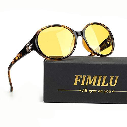 FIMILU Gafas de Conducción para la Noche, Gafas de Seguridad Antirreflejos de Lente Polarizada de Alta Definición para Mujeres (Marrón (Estilo 3)) ✅