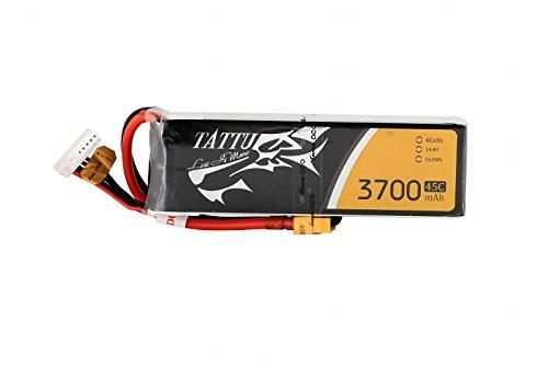 tattu Lipo Batteria Pack 3700mAh 14.8V 45C 4S1P for FPV Racing QUADCOPTERS Diverse Racing Cars Elicottero Aerei e modellini di Barche