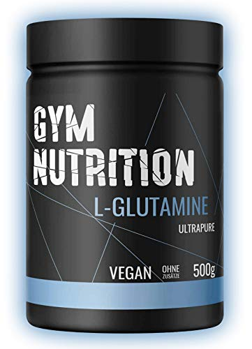 L-GLUTAMIN Ultrapure Pulver extra hochdosiert & 99,5 % rein - Laborgeprüft und vegan – ideal für Body-Builder Made in Germany 500-g, Geschmack: NEUTRAL