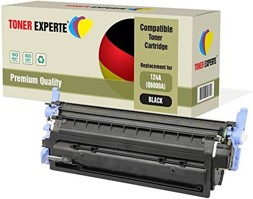 TONER EXPERTE Compatible Q6000A 124A Negro Cartucho de Tóner Láser para HP Color Laserjet 1600 1600n 2600 2600n 2600dn 2605 2605d 2605dn 2605dtn CM1015 CM1017 MFP