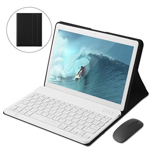 Tablet Android 9.0 da 10  con Procesador de cuatro núcleos WiFi navigazione Bluetooth 4 GB di RAM 64 GB di Memoria Dual SIM 3G è anche un cellulare#Blanco#