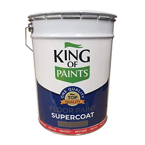Pintura para suelo de hormigón, ideal para garajes y talleres, color gris pizarra de 20 litros, pintura de pintura supercapa, resistente al uso, hecha para durar.