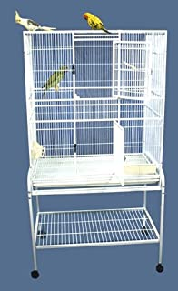 """Tiki Treehouse Bird Cage and Breeder Cage with Stand - 32"""" X 21"""" X 62"""" - Several Colors Available!"""