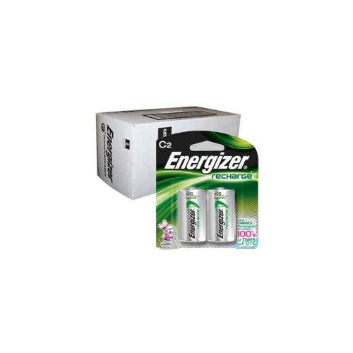 Energizer Recharge C Size Rechargeable Batteries NiMH 1.2V 12pk