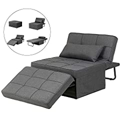 Multi-function: versatile use, sitting, reclining, foot-support and sleeping. Meet all your needs to the greatest extent. User-friendly Design: No assembly required, easy to store the chair and save space for unused time. Adjustable backrest guarante...