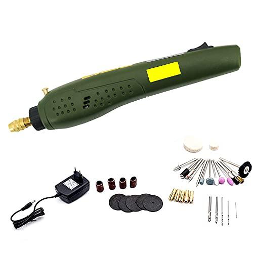 Mini Amoladora Kit de Herramientas Rotativas Multifunción Sin Llave 35 Accesorios Velocidad Variable 16000 RPM Multiherramienta para los DIY trabajos de Pulido Abrasivo y Corte