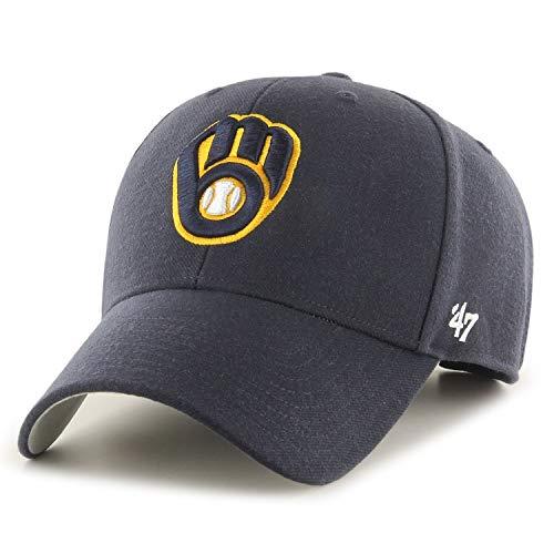 '47 Gorra de ajuste relajado, MLB Milwaukee Brewers, color azul marino