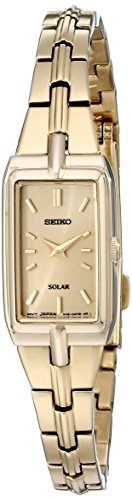 Seiko Women's SUP276 Analog Display Analog Quartz Gold Watch