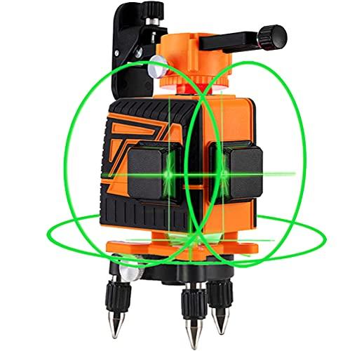 OMMO Laser Level, 12 Lines 3x360° Green Laser Level Self Leveling Tool, 132ft Green Beam Laser...