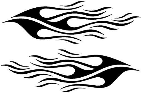 Samunshi® Tribal Aufkleberset Motorrad oder Auto Dekor in 8 Größen und 25 Farben (20x6,1cm schwarz)