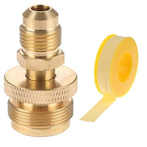Adaptador de regulador de propano portátil de 1 pulgada - 20 macho a rosca de cilindro de 3/8 pulgadas (5/8 '-18unf..