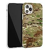 Keyihan Funda para iPhone 7 Plus y iPhone 8 Plus 5,5 Pulgadas Textura Mate Patrón de Camuflaje Anti-choques Carcasa Protectora Suave TPU Shockproof para Fan del ejército (Camuflaje de multiterreno)